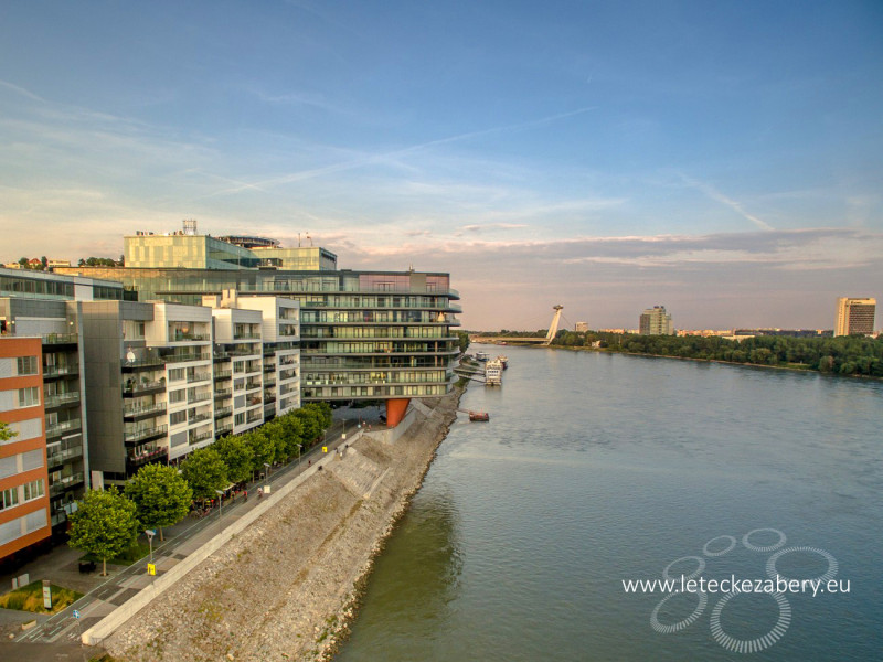 letecká fotografia Bratislava River park