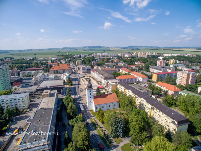 letecké fotografie Senica, námestie