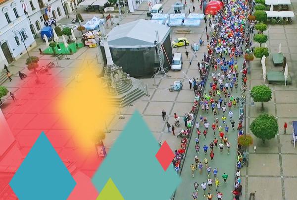 banskobystrický maratón z dronu