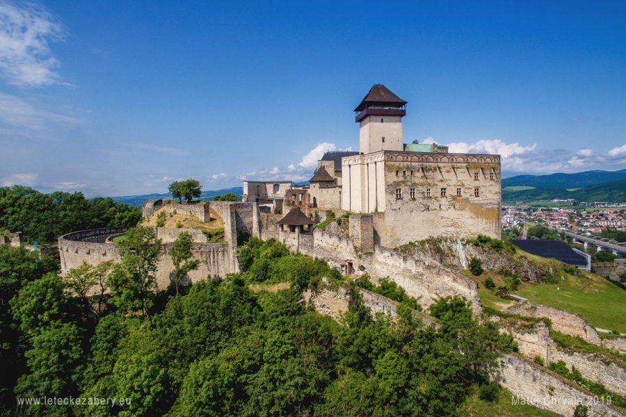 letecký záber Trenčiansky hrad