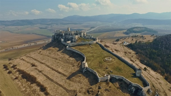 spišský hrad z výšky